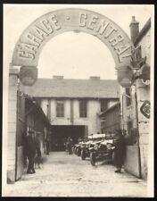Garage Central Citroën. Grande photographie 22 cm x 28 cm. Vers 1920.