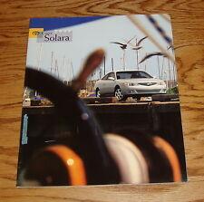 Original 2000 Toyota Camry Solara Sales Brochure 00