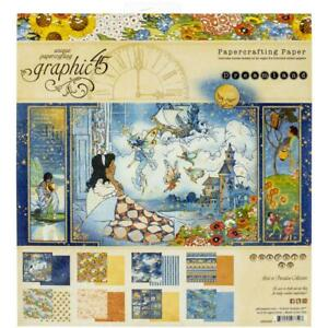 "Dreamland Collection 8"" x 8"" Inch Scrapbooking Paper Pad Graphic 45 4501930 New"