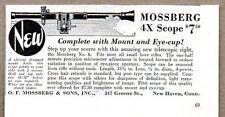 1935 Print Ad Mossberg No. 6 Rifle Scopes 4X New Haven,CT