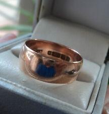Vintage 9ct Rose Gold Wedding Band Ring h/m 1915 Birmingham   -  size Q