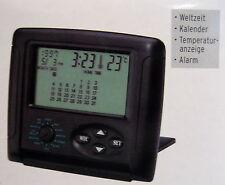 Multifunktionsuhr Weltzeituhr Reiseuhr mit Alarm und Temperaturanzeige +++NEU+++