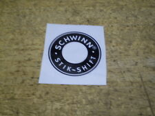 Schwinn Approved Stingray Fastback Bicycle Round Stik Shift Peel & Apply Decal