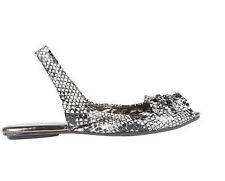 KVZ Leopard Animal Print Peep Toe Ruffle and Chain Detail JILLY Slingback $60