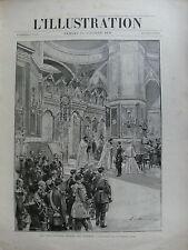 L'ILLUSTRATION 1896 N 2798  SOUVERAINS RUSSES EN FRANCE