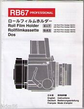 MAMIYA RB 67 PRO-SD FILM HOLDER INSTRUCTION (ORIGINAL PRINT JAPAN/not copies)