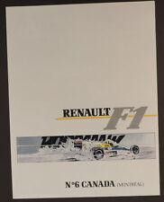 Graton Michel Vaillant pub Renault 6 Formule 1 Canada Montreal 1989