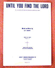 Until You Find The Lord - Sheet Music - By Jay Greene