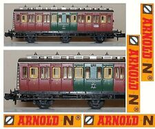 Arnold 3043 Vintage Railway Carriage Centoporte 2a & 3a CL in 3 Axis Furnished