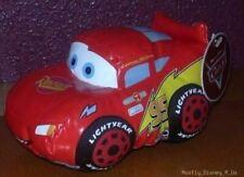 New Disney Store Exclusive Pixar CARS Lightning McQueen Bean Bag Plush Doll Toy
