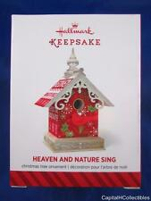 2014 Hallmark Keepsake Christmas Ornament Heaven and Nature Sing Birdhouse NIB