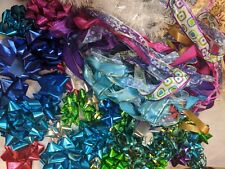 Christmas Ribbons/Bows Big Mixed Used Lot 2.5 lbs for Kids/Crafts/Wrapping/Deco r