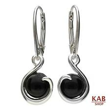ONYX GEMSTONE STERLING SILVER 925 JEWELRY EARRINGS, KAB-48 e.on