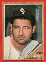 1962 Topps #385 Early Wynn LOW GRADE CREASE HOF Chicago White Sox FREE SHIPPING