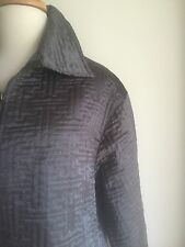 DECA Paris Quilted Metallic Steel Grey Trapeze Jacket. Med/Large.