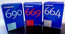 Three Polaroid Film Packs 20 photos 669,690,664 Expired 02/03/04 Unused