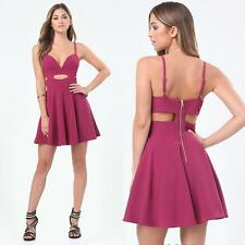 BEBE HALTER FLARED CUTOUT DRESS NWT NEW $139 XSMALL XS SMALL S 4