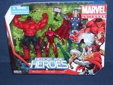 Marvel Universe 3 3/4 Heroic Age Heroes NIB Red Hulk Thor Iron Man Hasbro