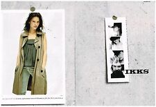 Publicité Advertising 2010 (2 pages) Pret à porter vetements IKKS