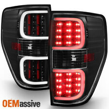 New listing Fit 2009-2014 Ford F150 Pickup Black LED Tube Tail Lights Brake Lamp Replacement