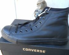 NEW CONVERSE  BLACK MONO  HI-TOP LEATHER CHUCK TAYLOR SIZE US 10
