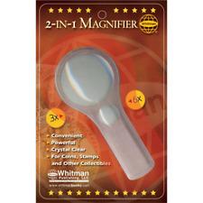 Whitman 2-IN-1 Magnifier 3X/6X & A Bonus Authentic Indian Gandhi Bill