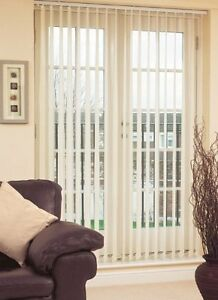 Sunlover CAROLINA CREAM Vertical Blinds. Complete. 5 sizes. Can be Cut NEW