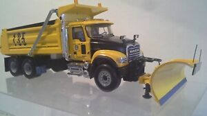 Mack Granite Dump Truck with Snowplow & Spreader by First Gear  1:34 scale