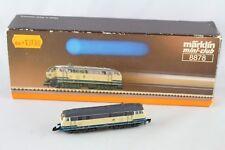 8878 Locomotiva Diesel Br 218 Märklin Mini-Club con Cambio Luce Giallo/Rosso Ovp