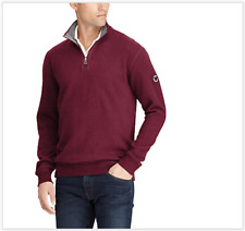 NWT Polo Ralph Lauren REVERSIBLE Wine Red/Grey Estate Quarter Zip Pullover, XL