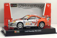 Bburago 38010 RACING PORSCHE 911 GT3 - METAL Scala 1:43