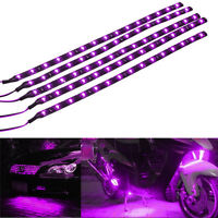 Lot5 Purple 15 LED 30CM Car Grill Flexible Waterproof Light Strip SMD 12V Sales