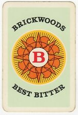 Playing Cards 1 Single Swap Card - Old BRICKWOODS BEST BITTER Beer Brewery