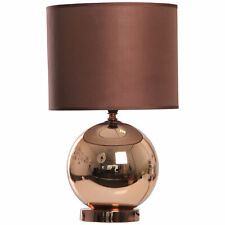 KLIVING OSTEND COPPER TABLE LAMP WITH MATCHING CHOCOLATE SHADE HOME LIGHTING