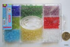 Perlas cristal rocalla X 3 CAJAS - 2400 UNIDADES 4 mm traslúcidas abalorios