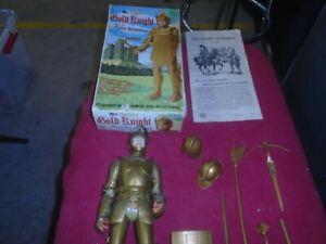 "Vintage 1960's MARX 12"" Golden Knight W/Armour & Accessories-W/Paperwork& Box"