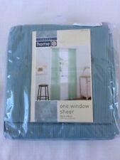 "Casual Home BY Target Seafoam Leno Blue Stripe Sheer Window Panel 54""x84"" NEW"
