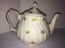 Rare Vintage Sadler England #4198 Teapot Chintz Violets Rose Lily of Valley