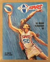 VINTAGE 1969-70 ABA MIAMI FLORIDIANS @ LOS ANGELES STARS BASKETBALL PROGRAM
