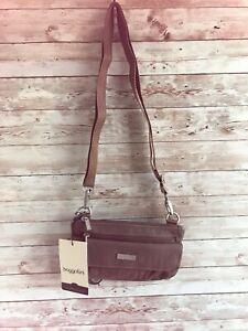 NWT $55 baggallini Mini Crossbody Bag Portobello lightweight travel