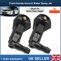 Honda Accord 2003-2007 Windscreen Wiper Water Spray Jet Washer Nozzle Front X2