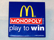 Monopoly Play to Win Mcdonald's Button