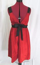 A.B.S Collection by Allen Schwartz NWT Red Silk Sleeveless Dress Size 8