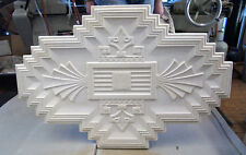 ART DECO PLASTER CEILING CENTRE/ROSE LARGE FAN DESIGN