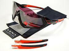 Oakley Flight Jacket Blk Red Prizm Road Sonnenbrille Jawbreaker Sutro Wind Kato