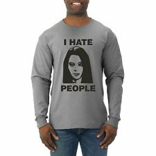 I Hate People Funny April Quote Parks and Rec Pop Culture Mens Long Sleeve Shirt
