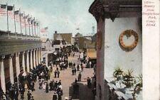 Postcard Bowery from Steeplechase Park Coney Island Ny