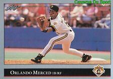 363   ORLANDO MERCED    PITTSBURGH PIRATES  BASEBALL CARD LEAF 1992