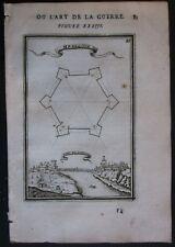 1684 PONT DE LARCHE gravure Alain Manesson Mallet fortifications Pont-de-l'Arche