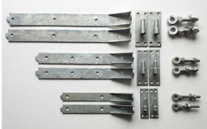 Heavy Duty Adjustable Hook and Band Hinges - Hot Spelter Galvanised